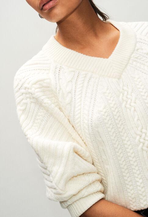 MATHURINH19 : Jerseys de punto y sudaderas color ECRU