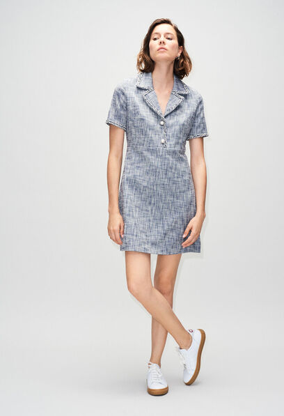 RINOH19 : Vestidos color CHAMBRAY FONCE - SHIRTING