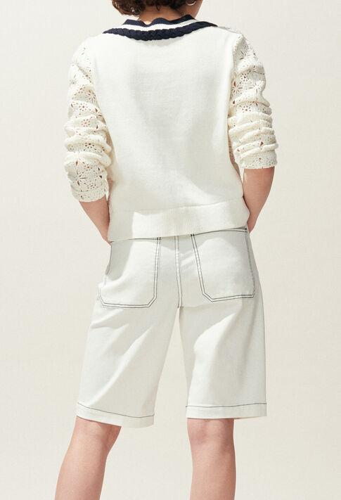 EMY : Faldas y pantalones cortos color Ecru