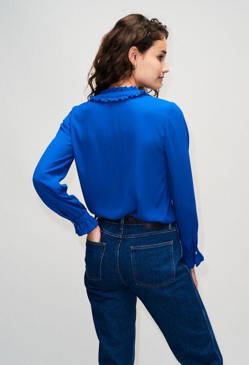 BUSINESSH19 : Tops y camisas color BLEU ROI