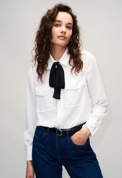 CALLISTOH19 : Tops y camisas color ECRU