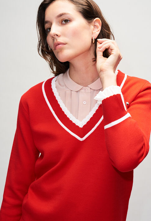 MAKYH19 : Jerseys de punto y sudaderas color ROUGE
