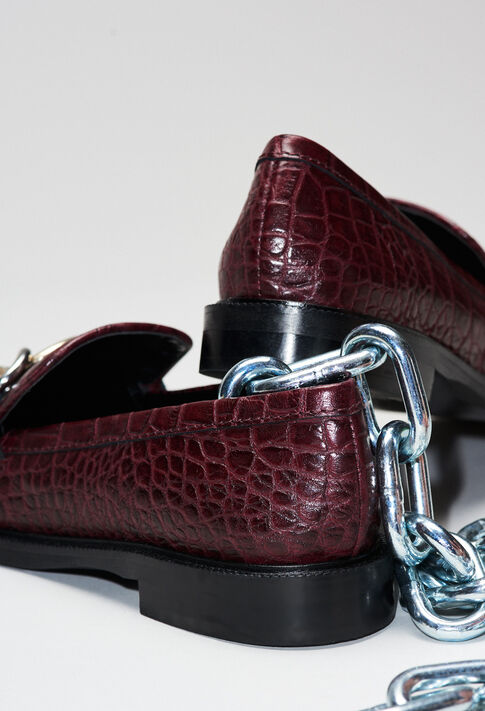 ACCORDCROCOH19 : Zapatos color Carmin