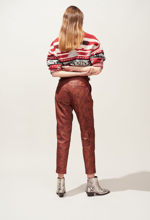 CRANBERRY : Pantalones y vaqueros color Python
