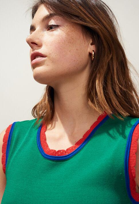 MELISSE : Vestidos color VERT VEGETAL