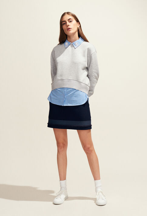 TAIPEI : Maille & Sweatshirts couleur Gris Chine