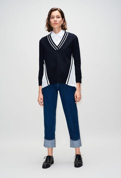 MONPLYH19 : Jerseys de punto y sudaderas color MARINE
