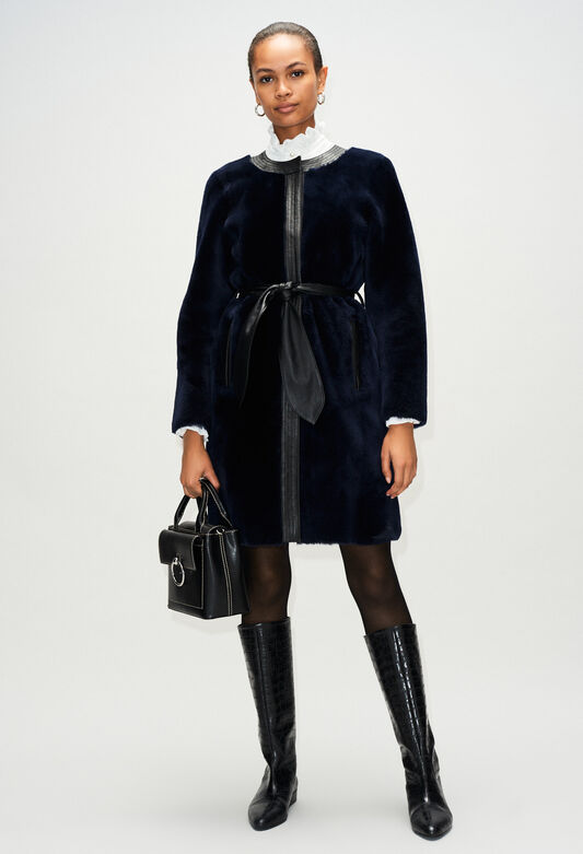 FLEURH19 : Abrigos y chaquetas color MARINE