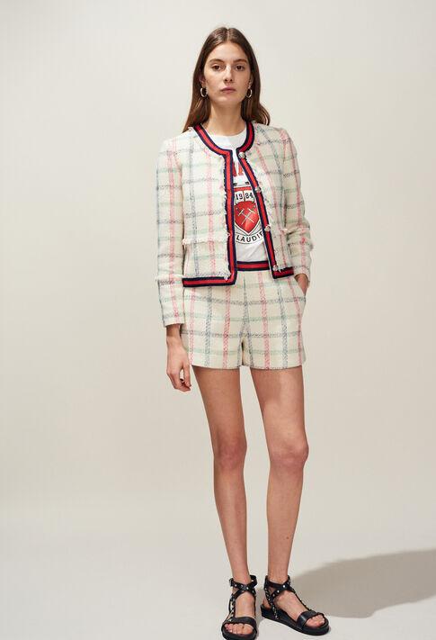 ELA : Faldas y pantalones cortos color VAINILLA