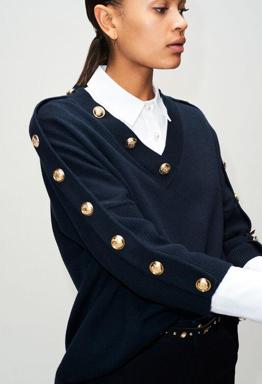 MANCEAUH19 : Jerseys de punto y sudaderas color MARINE