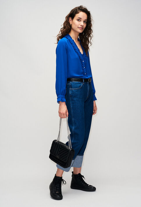 BUSINESSH19 : Tops y camisas color BLEU ROI