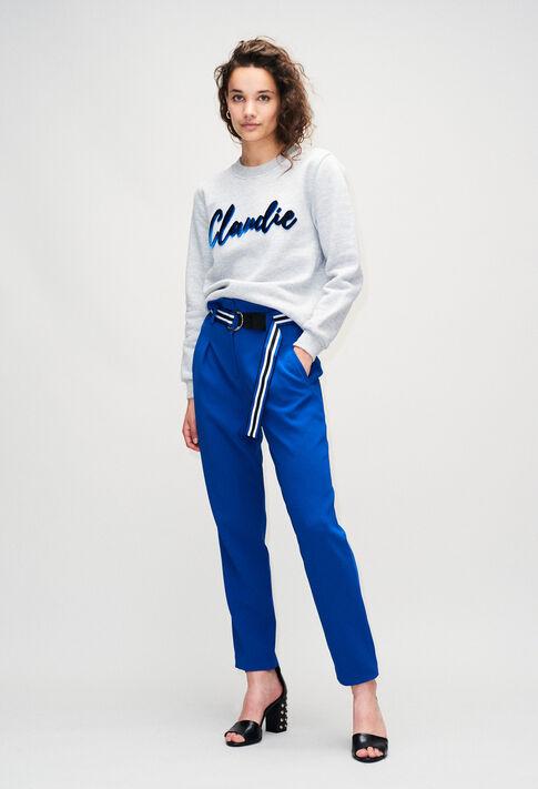 TOMYBISH19 : Maille & Sweatshirts couleur GRIS MELANGE