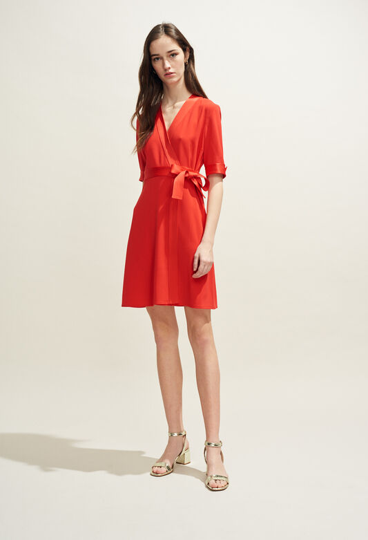 ROSILEA : Vestidos color ECARLATE