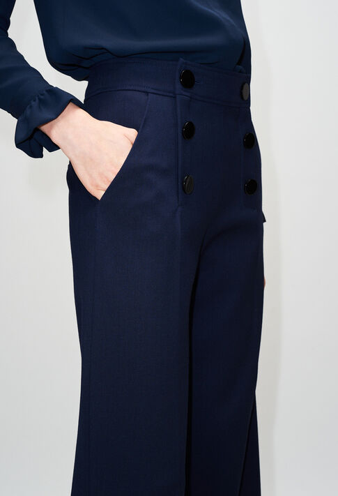 PALMIRAH19 : Pantalons et Jeans couleur MARINE