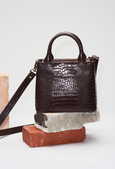ANOUCKSMALLREPTILECROCOH19 : Bolsos y marroquinería color CHOCOLAT