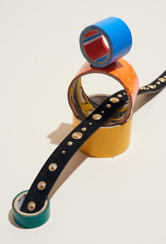AVEGAS STUD : Cinturones color NOIR