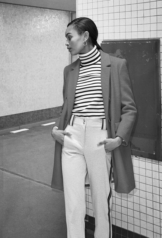 TACCOH19 : Pantalones y vaqueros color GRIS CHINE CLAIR