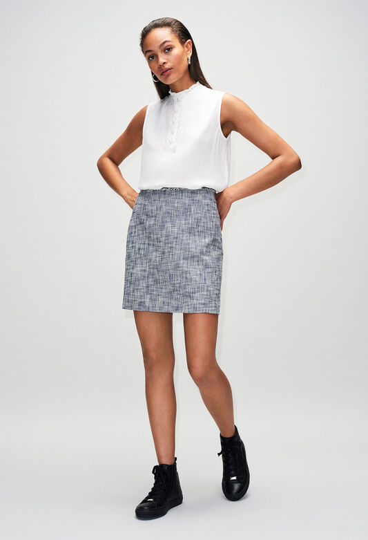 SEMILIAH19 : Faldas y pantalones cortos color CHAMBRAY FONCE - SHIRTING
