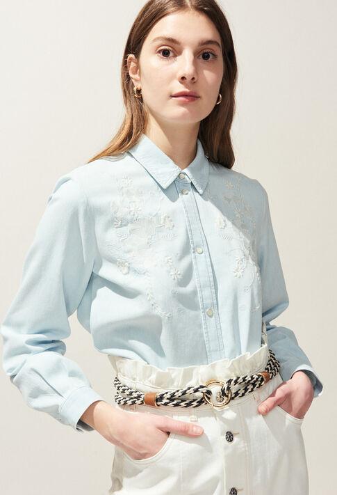 CERFEUIL : Tops y camisas color Ciel