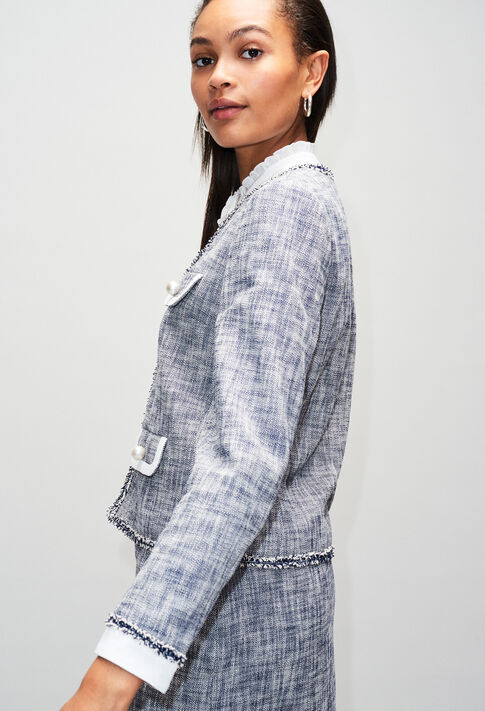 VIRGILAH19 : Vestes couleur CHAMBRAY FONCE - SHIRTING