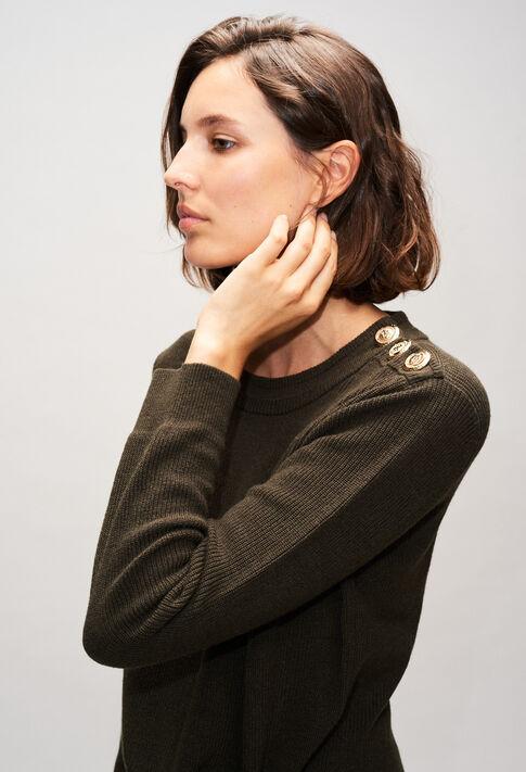 MATTH19 : Maille & Sweatshirts couleur KAKI ARMY