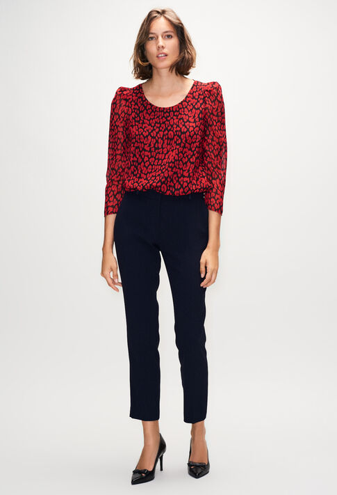 BANCLEOPARDH19 : Tops y camisas color CERISE