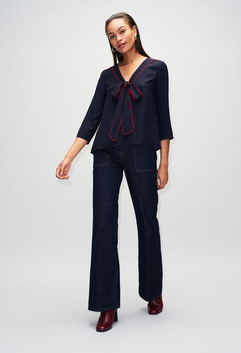 BELINAH19 : Tops y camisas color MARINE