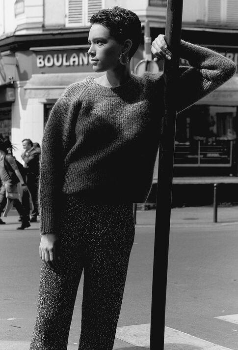MESHH19 : Pantalones y vaqueros color BICOLORE