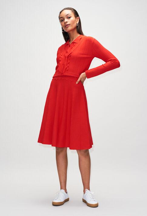 MYOSOTISH19 : Vestidos color ROUGE