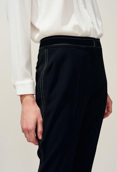 POUSSINA : Pantalones y vaqueros color Noir