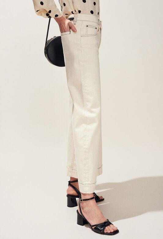 PANACOTTA : Pantalones y vaqueros color IVOIRE