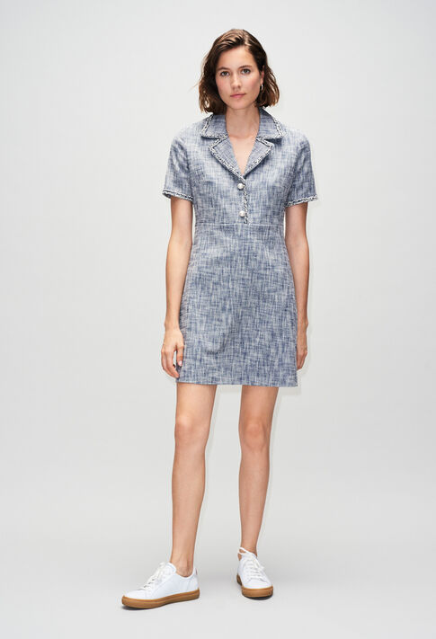 RINOH19 : Robes couleur CHAMBRAY FONCE - SHIRTING