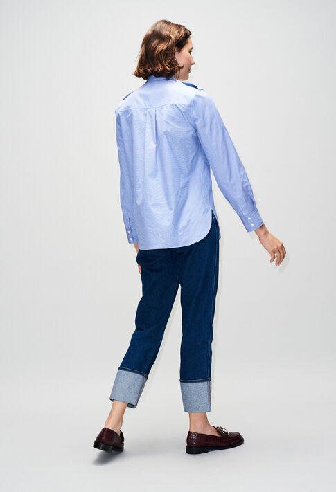 CINOH19 : Tops y camisas color CHAMBRAY CLAIR - SHIRTING