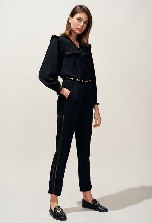 PAON : Pantalons et Jeans couleur Noir