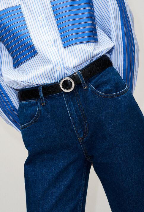 ALIGATOMATELASSEH19 : Cinturones color NOIR