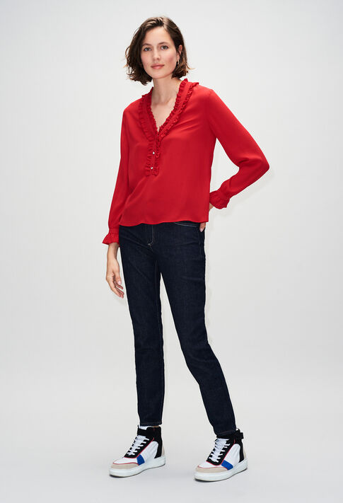 BUSINESSH19 : Tops y camisas color COQUELICOT