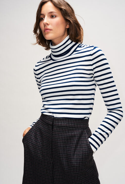MOUSSIH19 : Maille & Sweatshirts couleur MARINIERE