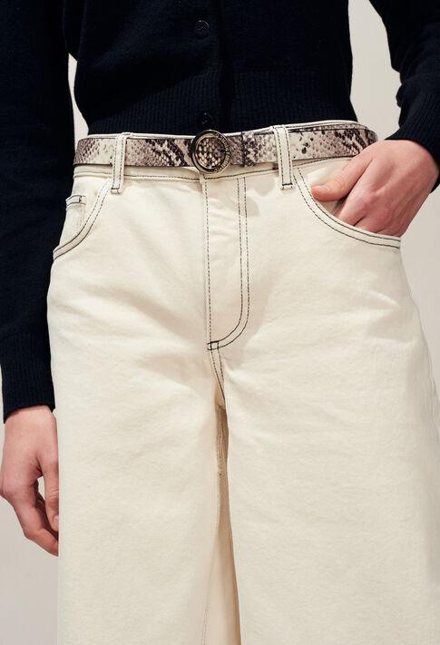 ALIGATO SNAKE : Cinturones color BEIGE