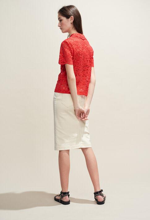 BELANGE : Tops y camisas color Ecarlate