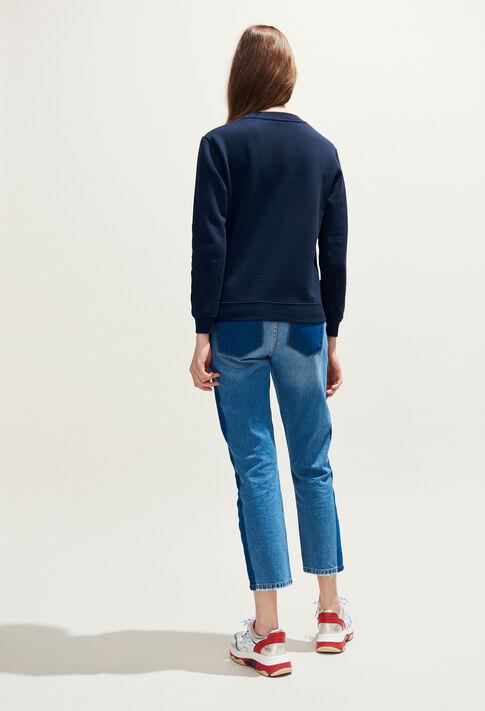 THILDA : Maille & Sweatshirts couleur Marine