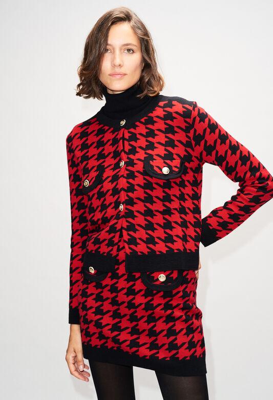 MONMAILLEH19 : Maille & Sweatshirts couleur CERISE