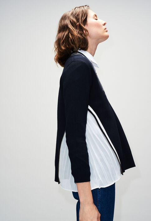 MONPLYH19 : Maille & Sweatshirts couleur MARINE
