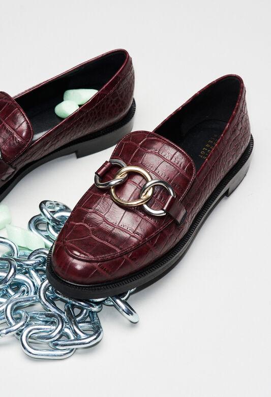 ACCORDCROCOH19 : Zapatos color CARMIN