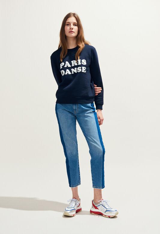 THILDA BIS : Maille & Sweatshirts couleur MARINE