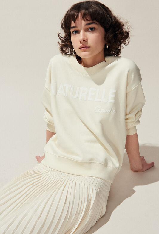 TESCHIC : Jerseys de punto y sudaderas color IVOIRE