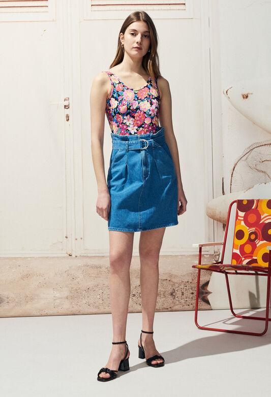 STELLE : Faldas y pantalones cortos color JEAN