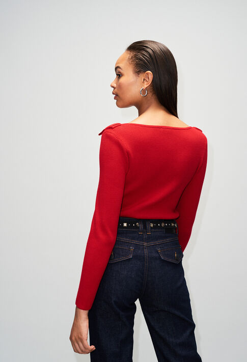 MYHEARTH19 : Maille & Sweatshirts couleur COQUELICOT