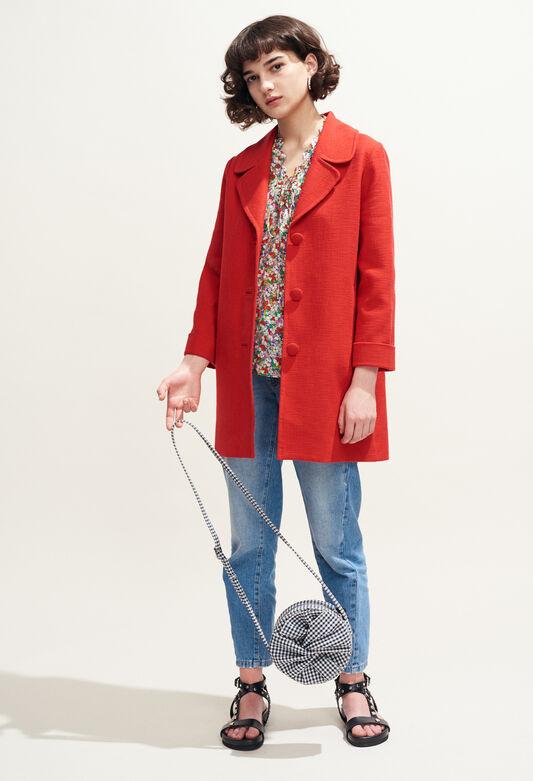 GLENN : Abrigos y chaquetas color ECARLATE