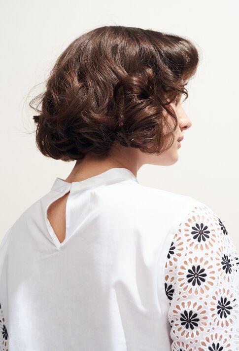 BAZIN : Tops y camisas color BLANC