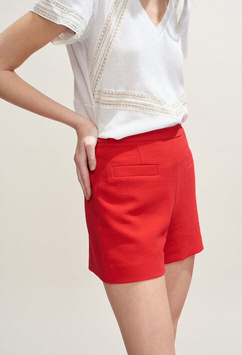 ERYNE : Faldas y pantalones cortos color Ecarlate